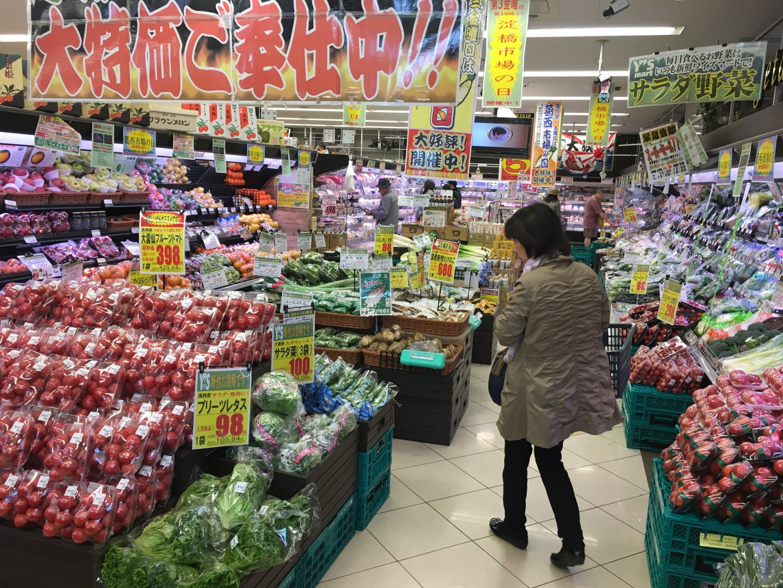 駅前にあるスーパーの「Y'sマート」。24時間営業していてとても便利!
