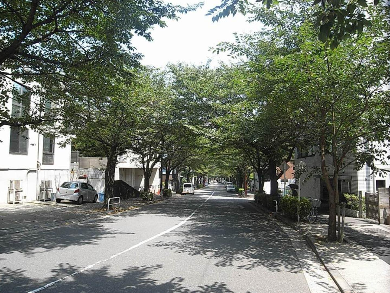 品川百景にも選ばれた景観の美しい坂道。春には桜が見所になり、多くの人が集まる。