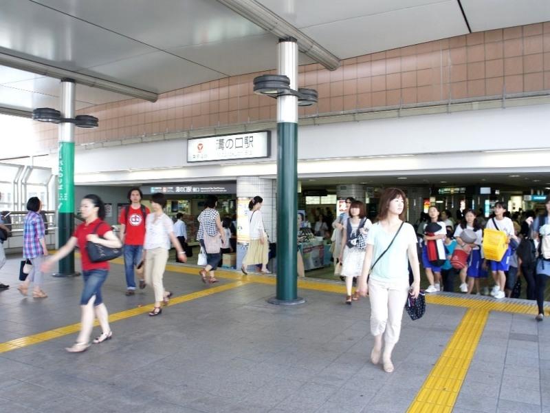 溝の口駅は東急大井町線の始発駅。学生人気の自由が丘や、大学がある大岡山、尾山台、旗の台などを通る