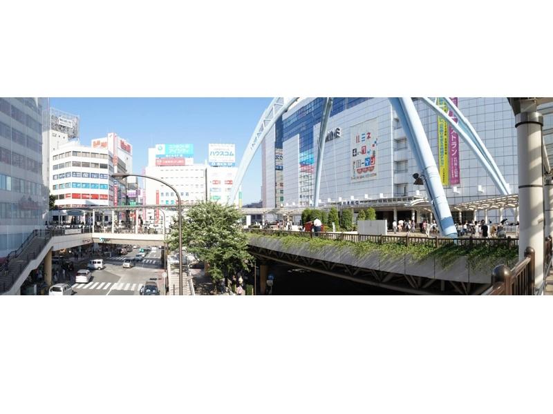 立川はJR中央線・南武線、多摩都市モノレールが走り、一日の乗降数東京市部最多