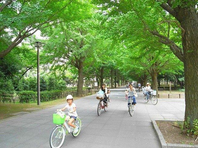 近隣の人々が集まる憩いの場。緑が多く住環境が良いことでも有名